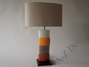 Orange CHANELA table lamp 61cm [AZ02337]