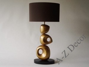 Gold ceramic UNIK table lamp 77cm [AZ02335]