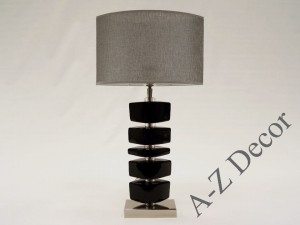 Black LINA bedroom lamp 55cm [AZ02233]
