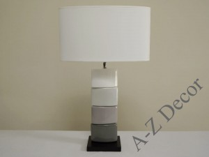 Gray CHANELA table lamp 61cm [AZ02245]