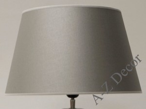 Silver conic lampshade 39x28x24cm [004506]