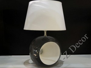Gray and white OLA bedroom lamp 38cm [AZ02254]