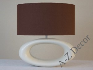 Cream ceramic PORTO table lamp 47cm [AZ02424]