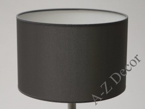 Silver cylindrical lampshade 30x20cm [008555]