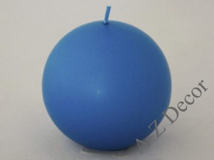 Turquoise velvet ball candle 10cm [008000]