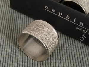 Metal napkin ring set of six pieces [AZ02161]