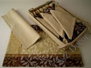 Cotton table set 19 pcs [AZ00501]