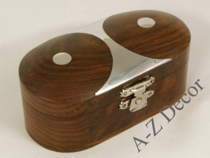 Wooden oval box 10cm [AZ01573]
