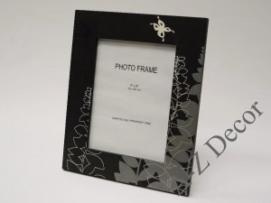 Black PRADO wooden photo frame [002888]