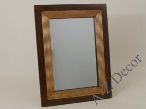 FURROW mirror with wooden frame 25x38cm [003962]