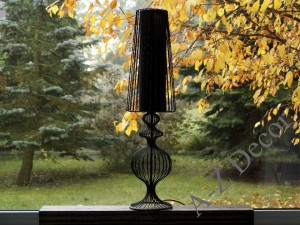 Black metal NOSTALGIA floor lamp 76cm [AZ01604]