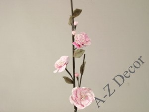 Light pink artificial Mini hibiscus 107cm [AZ01687]