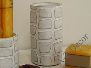 Earthenware candle holder 10x19cm [AZ01123]