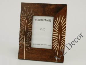 Decorated wooden frame for photos [002959]