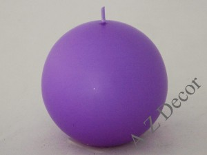 Lilac velvet ball candle 9cm [007995]