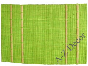 Limon decorated raffia table placemat [AZ01082]