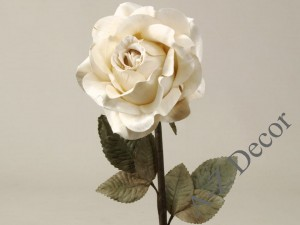 Light cream Thai artifical antique rose 59cm [AZ01165]