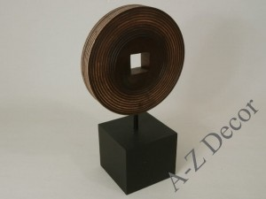 Dark bown wooden decoration 34cm [004104]