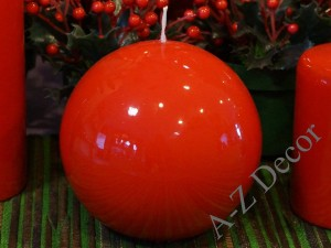 Red ball candle 12cm [AZ01768]