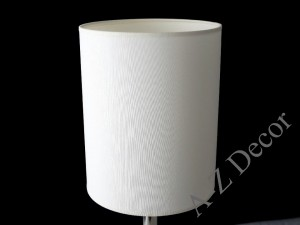 White cylindrical lampshade  20*25cm [004507]