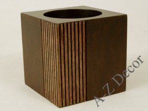 PLISADO cubic pillar candle holder 10cm [AZ01057]