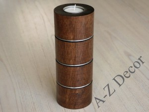 Brown wooden Tealight candle holder [AZ00352]
