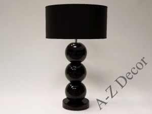 Black ceramic table lamp 68cm [AZ02157]