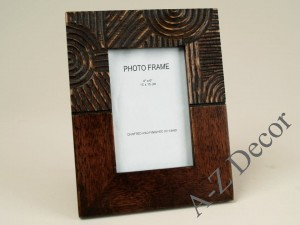 Wooden photo frame with decoration 18x23cm [AZ00544]