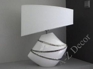 White LACE table lamp 63cm [AZ02239]