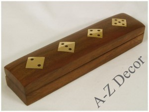 Wooden dice box 16x3,5x3cm [AZ01580]