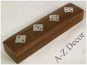 Wooden dice box 16x3,5x3cm [AZ01581]