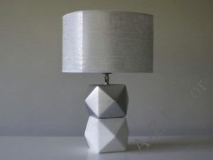 White and silver DIAMS bedroom lamp 40cm [AZ02646]