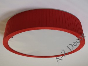 Red CONIC pleated plafond 52cm [AZ02619]