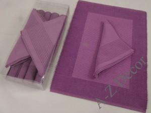 AFRICAN VIOLET cotton table set for 4 people [AZ01215]