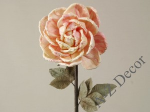 Salmon shaded artificial rose 78cm [AZ01684]