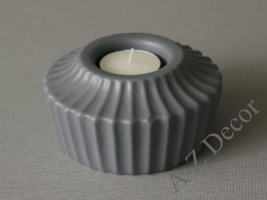 Gray ADONIS T-light candle holder 11x6cm [000383]