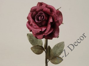 Classic maroon artificial rose 59cm [AZ01703]