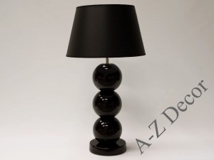 Black PERLA III table lamp 71cm [AZ02427]