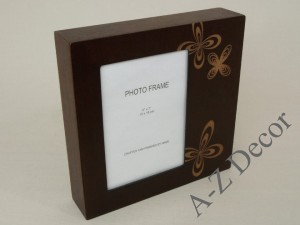 ROSETTE photo frame with decoration [004041]