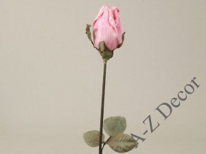 Light pink artificial Thai rose 63cm [AZ01681]