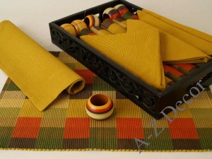 Cotton table set 19 pcs [AZ00490]
