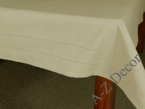 TAUPE cotton tablecloth 150x240cm [AZ02124]