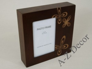 Coffered shape ROSETTE photo frame 20x20cm [004040]