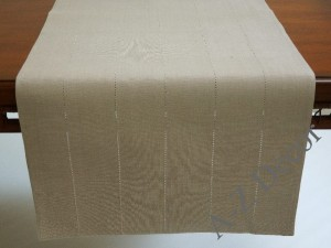 Cotton TAUPE table runner 50x140cm [AZ02130]