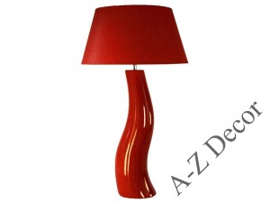 Light red CHICA table lamp 84cm [AZ01885]