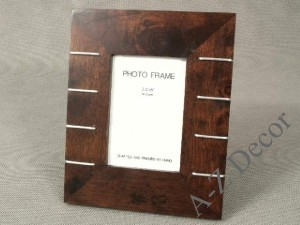 Rubber wood photo frame [AZ00249]