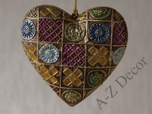 Mirage heart hanging ornament 9cm [AZ02213]