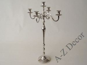 Metal candle holder x5, 42x75cm [AZ01959]