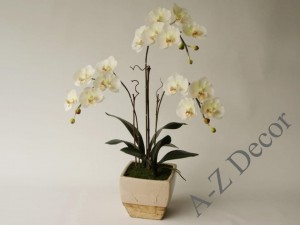 Artificial Phalaenopsis orchid in pot 72cm [AZ02017]