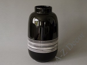 Black decorated ceramic vase 42cm [AZ02526]